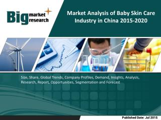 The sales of baby skin care products grew from RMB2.537 billion in 2009 to RMB5.458 billion in 2014