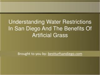 Understanding Water Restrictions In San Diego And The Benefits Of Artificial Grass