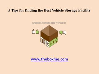 5 Tips for finding the Best Vehicle Storage Facility in Dubai, UAE