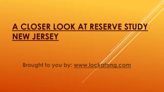 A Closer Look At Reserve Study New Jersey
