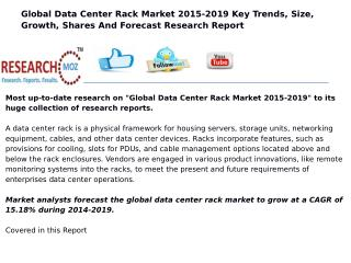 Global Data Center Rack Market 2015-2019