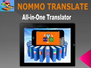 NOMMO TRANSLATE - Language Translator Application