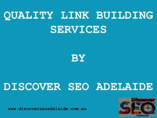 SEO Link Building Services in Adelaide