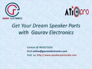 Speaker Parts India