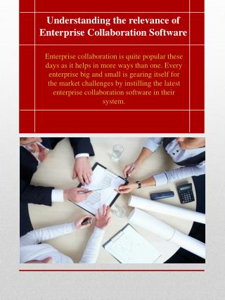 Understanding the relevance of Enterprise Collaboration Software