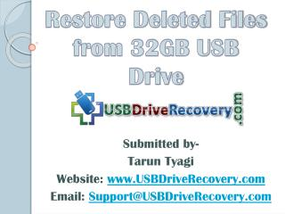 Restore Deleted Files from 32GB USB Drive