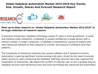 Global Helpdesk Automation Market 2015-2019