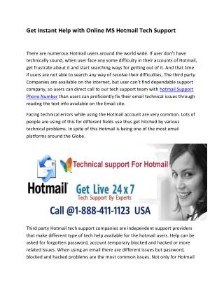 Hotmail USA Phone Number for Reliable Support