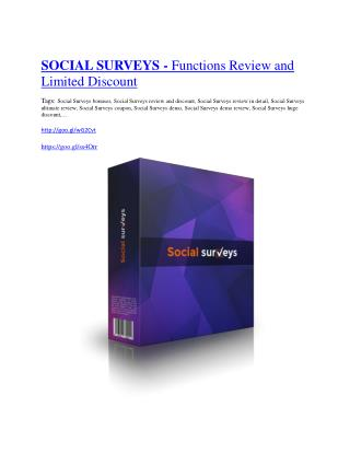 Social Surveys Review - (FREE) Bonus