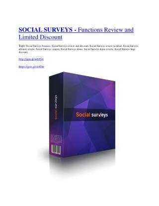 Social Surveys Review - (FREE) Bonus