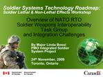 Overview of NATO RTO  Soldier Weapons Interoperability Task Group and Integration Challenges
