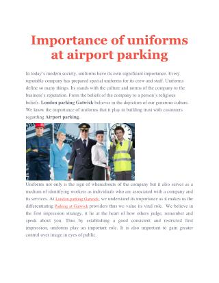Importance of uniforms at airport