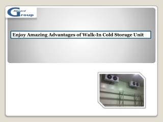 Enjoy Amazing Advantages of Walk-In Cold Storage Unit