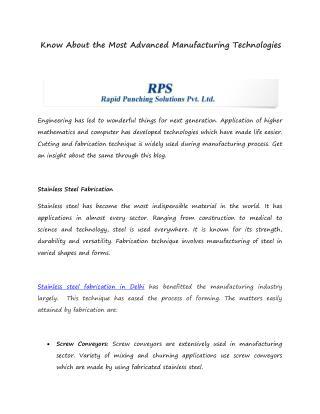 Stainless Steel Fabrication In Delhi
