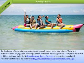 Goa Adventure Sports Packages