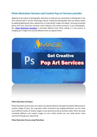 Photo Illustration Services and Creative Pop art Services provider