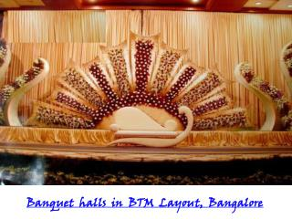 Banquet halls, Party halls in BTM-Layout, Bangalore