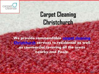 Carpet Cleaning Christchurch