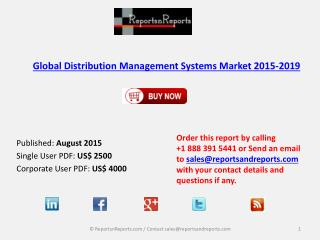 Global Distribution Management Systems Market 2015-2019