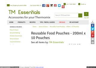 Reusable Food Pouches