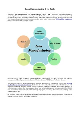 Lean Manufacturing & Its Tools