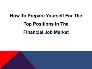 Financial Job Market