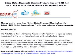 United States Household Cleaning Products Industry 2015 Market Research Report