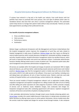 Management Software by Mohsen Zargar