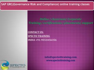 online sap grc training classes