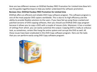 DVDFab Passkey FREE Promotion for Limited time