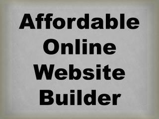Affordable Online Website Builder