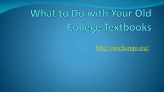 Selling Textbooks - What to Do with Your Old College Books