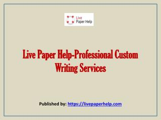 Professional Custom Writing Services