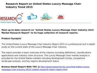United States Luxury Massage Chair Industry 2015 Market Research Report
