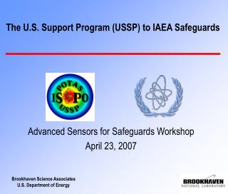 The U.S. Support Program USSP to IAEA Safeguards