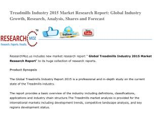 Global Treadmills Industry 2015 Market Research Report Share
