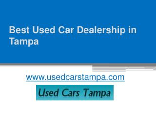 Used Car Dealership in Tampa, FL - www.usedcarstampa.com
