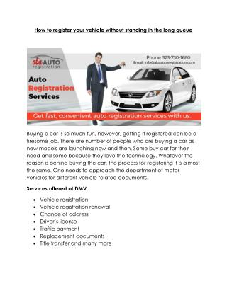 DMV Services & Auto Registration Services in Los Angeles