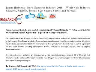 Japan Hydraulic Work Supports Industry 2015 Market Research Report