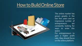 How to Build Online Store in India