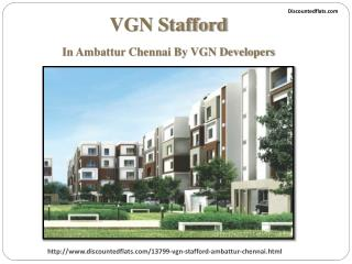 Luxurious Apartments for Sale in VGN Stafford in Chennai