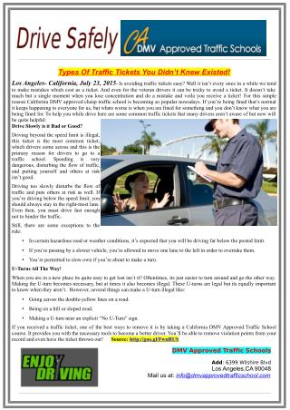 Types Of Traffic Tickets You Didn't Knew Existed!