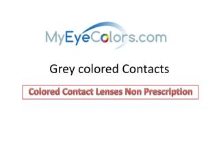 Grey colored contacts