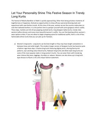 Stylish Kurtis Online