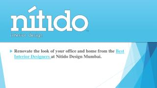 Best Interior Designers at Nitido Design Mumbai.