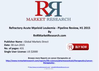 Refractory Acute Myeloid Leukemia Pipeline Therapeutics Assessment Review H1 2015