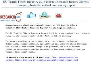 EU Textile Fibers Industry 2015 Market Research Report