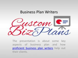 Business Plans for Start-ups