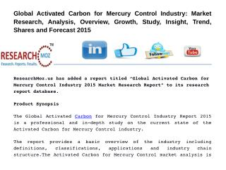Global Activated Carbon for Mercury Control Industry 2015 Market Research Report