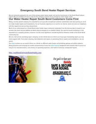 Emergency Water Heater Repair South Bend IN